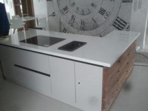 blaty kuchenne Wrocław Crystal Polar White